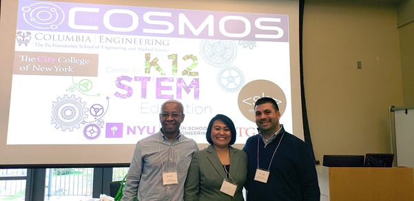 NYC High School Teachers Presented the COSMOS RET Program and the COSMOS Education Toolkit at the NE-ASTE 2018 Conference